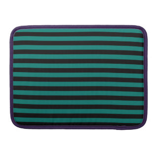 Thin Stripes - Black and Pine Green MacBook Pro Sleeve