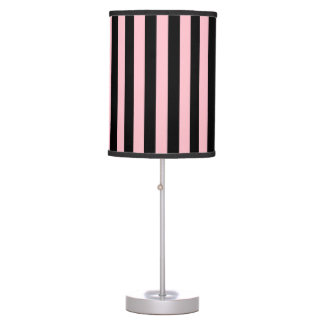 Thin Stripes - Black and Pink Table Lamps