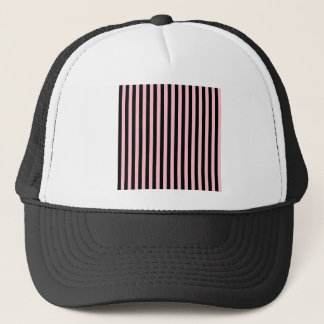 Thin Stripes - Black and Pink Trucker Hat