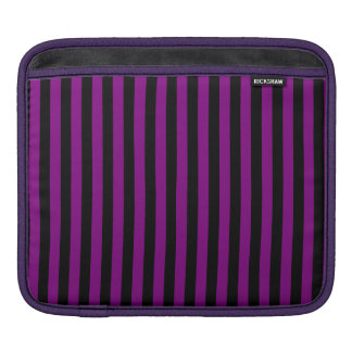 Thin Stripes - Black and Purple iPad Sleeve