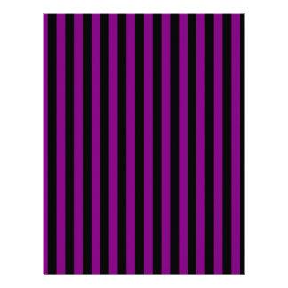 Thin Stripes - Black and Purple Letterhead
