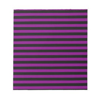 Thin Stripes - Black and Purple Notepad