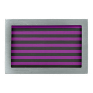 Thin Stripes - Black and Purple Rectangular Belt Buckle