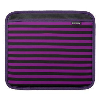 Thin Stripes - Black and Purple Sleeves For iPads