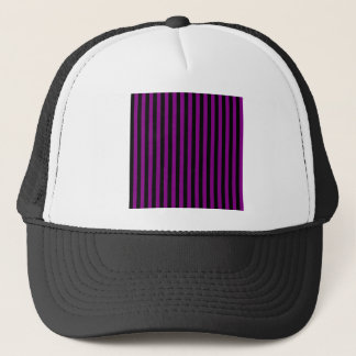 Thin Stripes - Black and Purple Trucker Hat