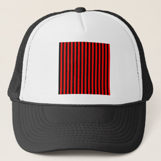 Thin Stripes - Black and Red Trucker Hat