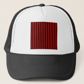 Thin Stripes - Black and Rosso Corsa Trucker Hat