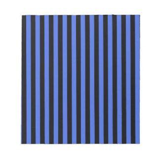 Thin Stripes - Black and Royal Blue Notepad