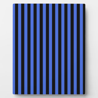 Thin Stripes - Black and Royal Blue Plaque