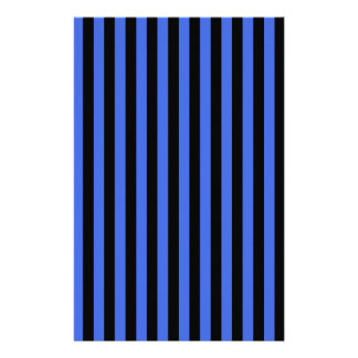 Thin Stripes - Black and Royal Blue Stationery Paper