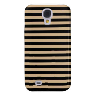 Thin Stripes - Black and Tan