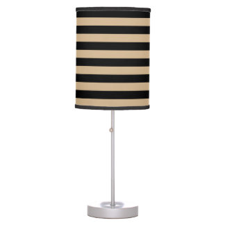 Thin Stripes - Black and Tan Desk Lamps