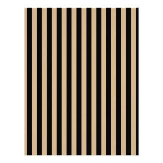 Thin Stripes - Black and Tan Letterhead