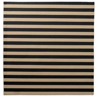Thin Stripes - Black and Tan Napkin