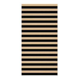 Thin Stripes - Black and Tan Photo Cards