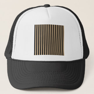 Thin Stripes - Black and Tan Trucker Hat