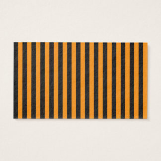 Thin Stripes - Black and Tangerine Business Card