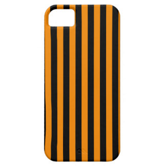 Thin Stripes - Black and Tangerine Case For The iPhone 5
