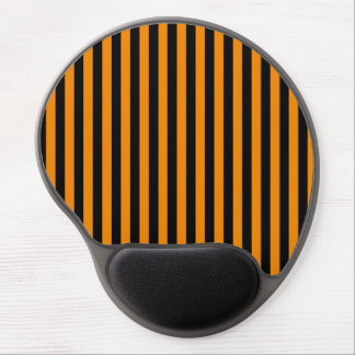 Thin Stripes - Black and Tangerine Gel Mouse Pad