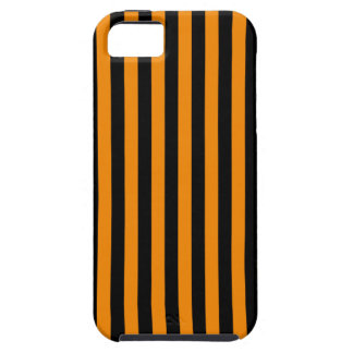 Thin Stripes - Black and Tangerine iPhone 5 Cases