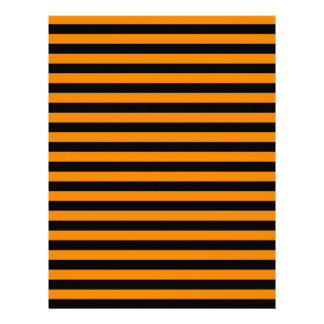 Thin Stripes - Black and Tangerine Letterhead