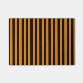 Thin Stripes - Black and Tangerine Post-it Notes