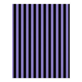 Thin Stripes - Black and Ube Letterhead