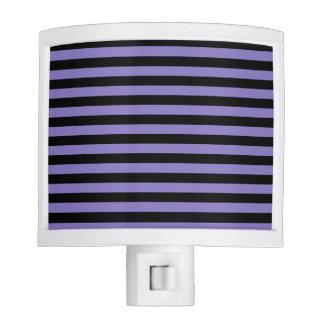 Thin Stripes - Black and Ube Night Lights