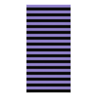 Thin Stripes - Black and Ube Photo Card Template