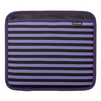 Thin Stripes - Black and Ube Sleeve For iPads