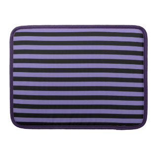 Thin Stripes - Black and Ube Sleeve For MacBook Pro