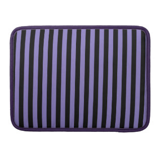 Thin Stripes - Black and Ube Sleeve For MacBooks