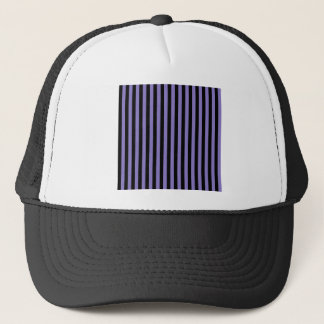 Thin Stripes - Black and Ube Trucker Hat