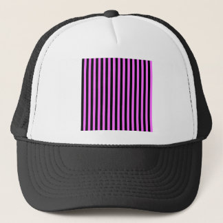 Thin Stripes - Black and Ultra Pink Trucker Hat