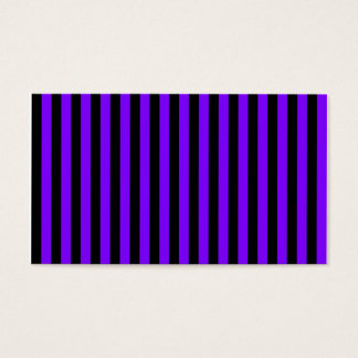 Thin Stripes - Black and Violet Business Card
