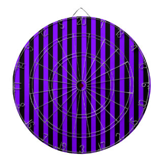 Thin Stripes - Black and Violet Dartboard