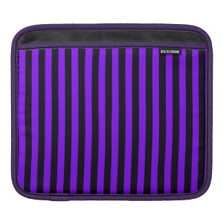 Thin Stripes - Black and Violet iPad Sleeve
