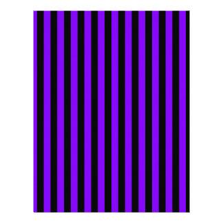 Thin Stripes - Black and Violet Letterhead