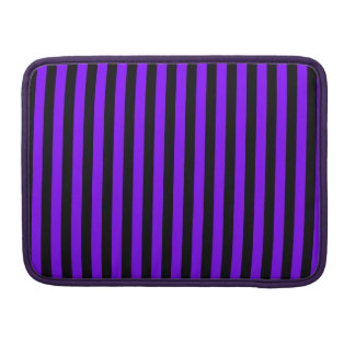 Thin Stripes - Black and Violet Sleeve For MacBooks