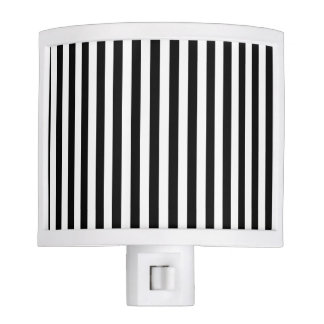 Thin Stripes - Black and White Night Lights