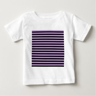 Thin Stripes - Black and Wisteria Baby T-Shirt