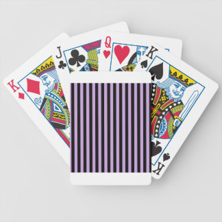 Thin Stripes - Black and Wisteria Bicycle Playing Cards
