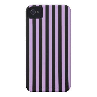 Thin Stripes - Black and Wisteria Case-Mate iPhone 4 Case
