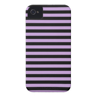 Thin Stripes - Black and Wisteria iPhone 4 Case-Mate Cases