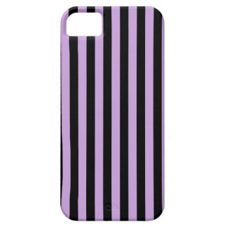 Thin Stripes - Black and Wisteria iPhone 5 Cover