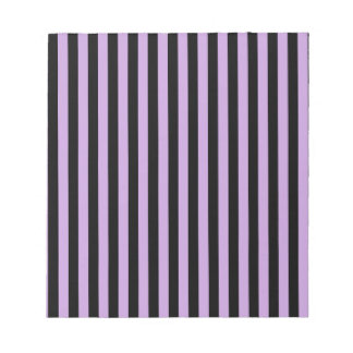 Thin Stripes - Black and Wisteria Notepad