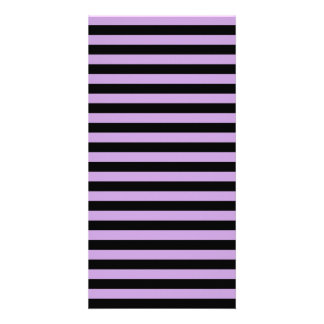 Thin Stripes - Black and Wisteria Picture Card