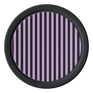 Thin Stripes - Black and Wisteria Poker Chips