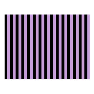 Thin Stripes - Black and Wisteria Postcard