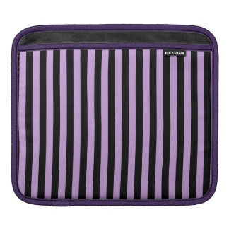 Thin Stripes - Black and Wisteria Sleeve For iPads